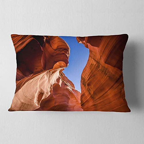 (Designart CU8830-12-20 Grand Antelope Canyon' Landscape Photography Lumbar Cushion Cover for Living Room, Sofa Throw Pillow 12 in. x 20 in. in, Insert Printed On Both Side)
