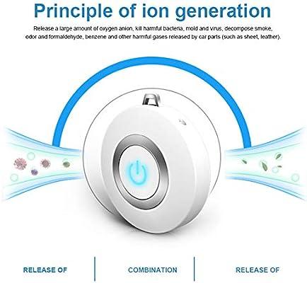 ILYWZY Purificador de Aire portátil Collar, Mini portátil AMBIENTADOR ionizador, de Iones Negativos generador ...