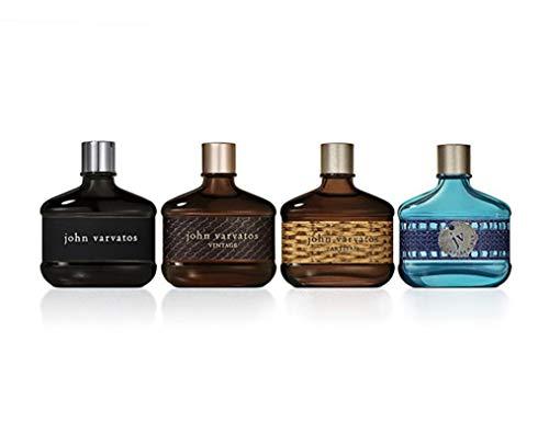 John Varvatos Collection 4 Piece Mens Cologne Variety Set,  fragrance gift set for men