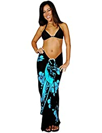 Womens Hibiscus Flower Swimsuit Sarong in Your Choice of Color