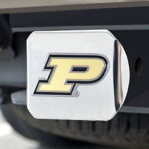 FANMATS NCAA Purdue Boilermakers Purdue Universitycolor Hitch - Chrome, Team Color, One Size (Purdue Cushion Seat)
