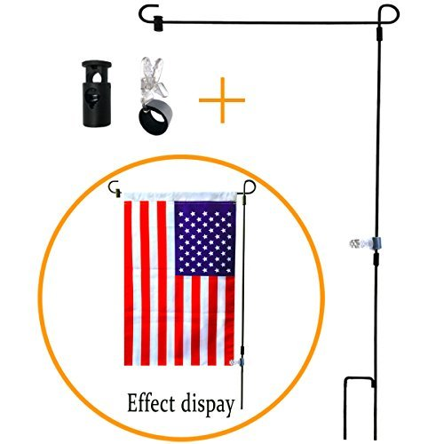 BOUTIQUE_GOODS Garden Flag Stand-Holder-Pole with Garden Flag Stopper and Anti-Wind Clip 36.3