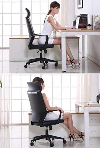 XBSXP Executive Recline lyft svängbar stol, dator skrivbord och stol kontorsstol konferensstol hem stol sovrum stol vadderad kontorsstol (färg: Gul)