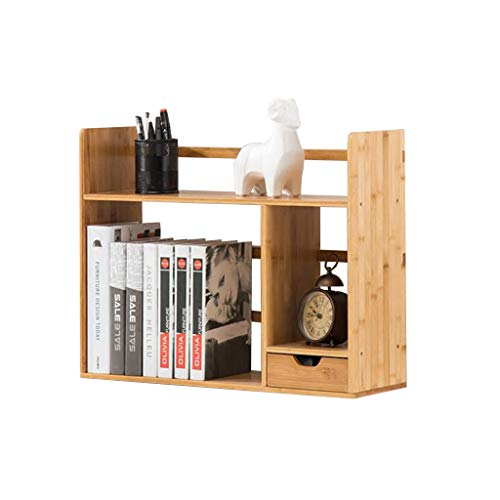 MOOLO Storage Racks Desktop Bookshelf, Storage Shelf Countertop Bookcase Supplies Bamboo Shelving Desk Organizer Display Rack (Size : 581946cm)