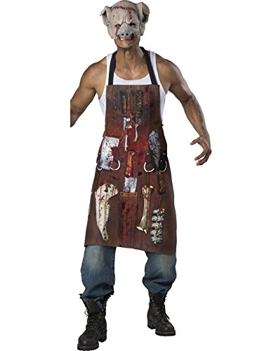 Fun World Men's Chop Shop Butcher Kit, Multi, One (Butcher Pig Costumes)