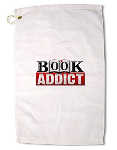 TooLoud Book Addictプレミアムコットンゴルフタオル – 16