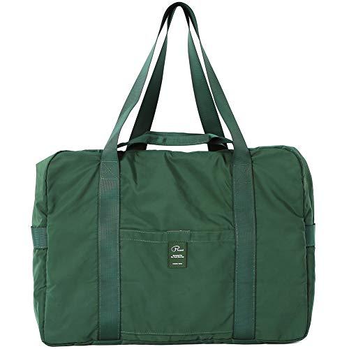 VanFn Travel Duffel Bag, Foldable Sports Duffels Gym Bag, Outdoor Totes, Sports Lightweight Shoulder Handbag (Dark Green)