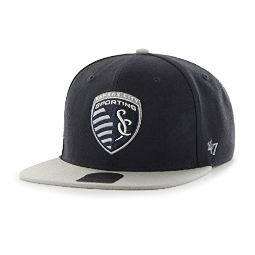 MLS Sporting Kansas City No Shot Two-Tone Captain Hat, One Size, Navy