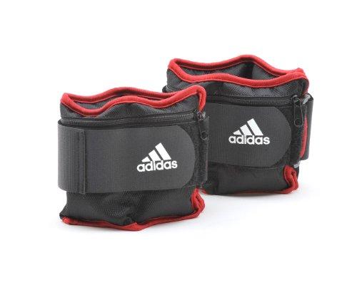 adidas Uni Gewichtsmanschetten, schwarz-rot, 2 x 2.0kg, ADWT-12230