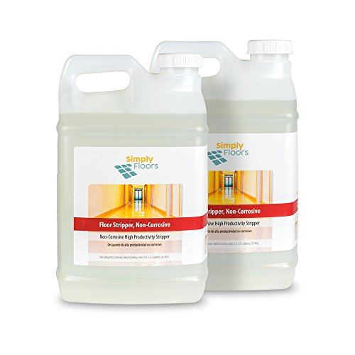 Gallon Bottle Stripper - Simply Floors FLC-00031 Non Corrosive Floor Stripper - [Pack of 2 - 2.5 gallon bottles] 11.5-12.5 pH, Aggressive, Super concentrated,  Premium floor stripper finish no neutralizer needed