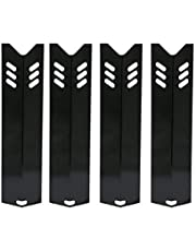 Bar.B.Q.S Porcelain Steel 91591 4Pack Heat Plate, Heat Shield Replacement For Uniflame GBC1059WB, GBC1059WE-C, GBC1059WB-C, GBC1069WB-C, GBC1143W-C Gas Grill Models