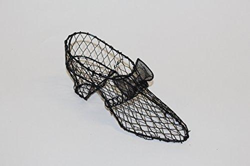 Black Wire Metal High Heel Shoe