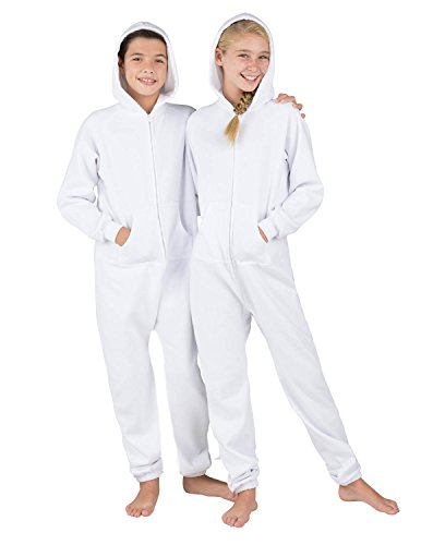 Footed Pajamas Family Matching White Frosting Kids Footless Hoodie One Piece - Large