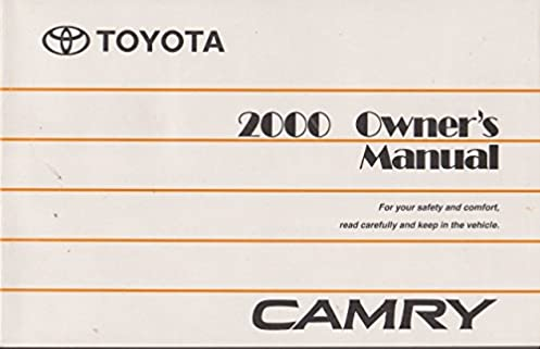 2000 toyota camry owners manual toyota amazon com books rh amazon com 2000 Toyota Camry Manual Book 2000 Toyota Camry Manual Transmission