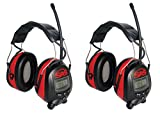 SAS Safety 6108 Digital Earmuff Hearing Protection with AM/FM Radio and MP-3 Ready (2-Pack)