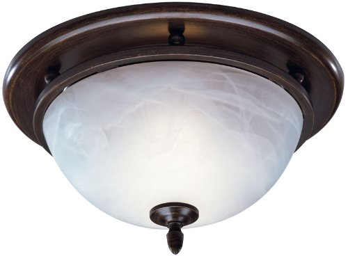 Broan 754RB Decorative Ventilation Fan and Light,70 CFM 3.5 Sones, Oil Rubbed Bronze - Bracket Bathroom Light