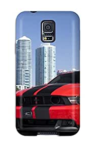 New TnApjBN4463MvgAn Tunned Red Car On Beach Skin Case Cover Shatterproof Case For Galaxy S5