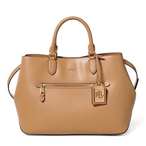 Ralph Lauren Newbury Sabine Satchel Medium Leather Handbag, Cream