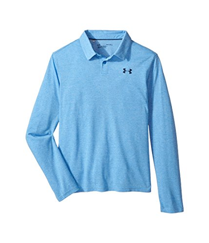 Under Armour Kids Boy's Long Sleeve Siro Tech Polo (Big Kids) Mako Blue/Mako Blue/Academy Large