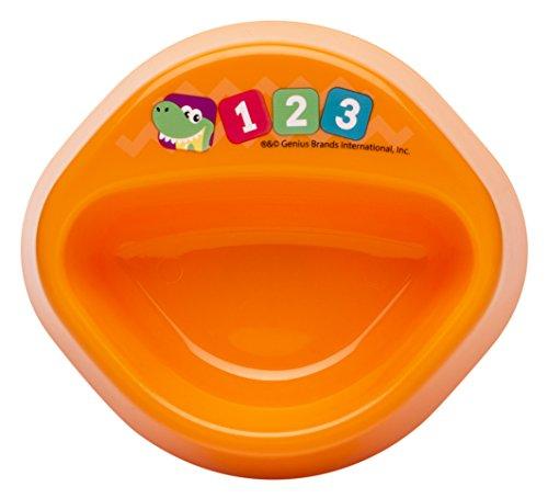 Zak Designs Toddlerific 6-inch No-Tip! Round Bowl, Baby Genius