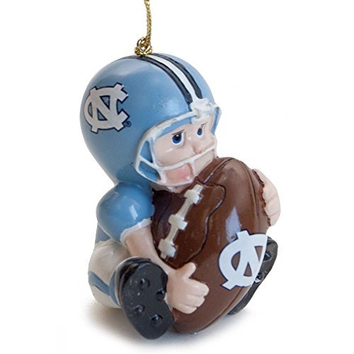 NCAA North Carolina Tar Heels (UNC) Lil' Fan Football Player Acrylic Ornament ()