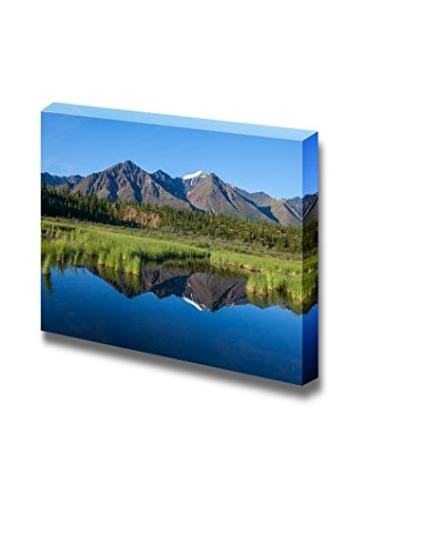 Canvas Prints Wall Art - Mckinley Reflection in Lake on Alaska| Modern Home Deoration/Wall Decor Giclee Printing Wrapped Canvas Art Ready to Hang - 24