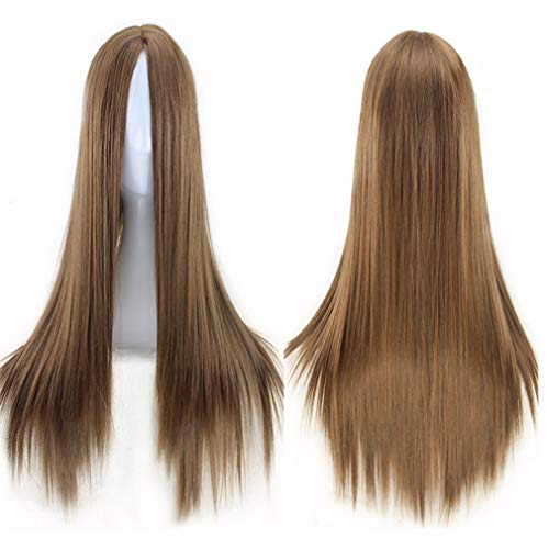 Dolland Hair Wig Long Straight Hair Cosplay Halloween Party Costume Fashion Accessories,Light Brown