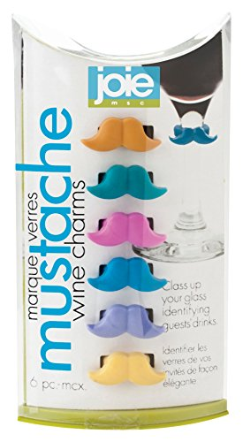 Joie Mustache Wine Charms Piece product image