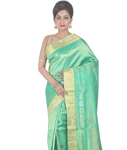 Indian Ethnic Upadda Silk Light Green Uppada Saree by Simaaya Fashions Pvt Ltd (Image #1)