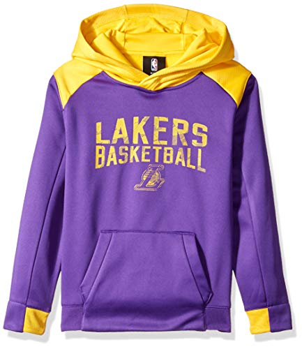 Outerstuff NBA NBA Kids & Youth Boys Los Angeles Lakers Off The Court Performance Pullover Hoodie, Regal Purple, Youth - Court Los Lakers Angeles
