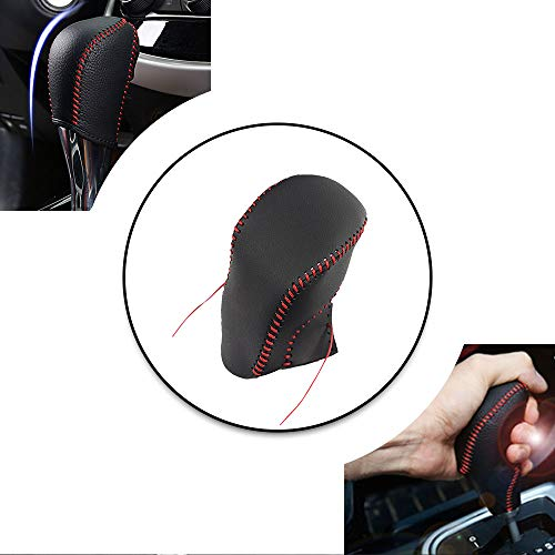 - Non-slip Black Genuine Leather Gear Shift Knob Cover For Nissan Sentra 12-18 Sylphy 2018 Tiida 11-16 LIVINA 13-18 Rogue 2014 Shift Lever Protector Trim Red Thread A Type