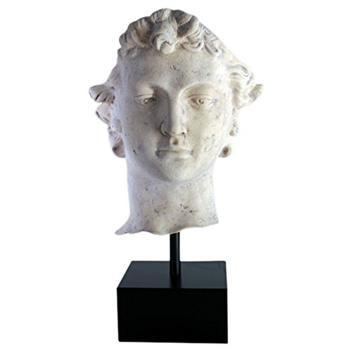Statue or Bust of David on Pedestal faux marble stone finish Very Tall Sculpture Lovely - Faux Marble Statues