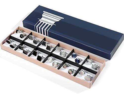 DORICUFF Cufflinks for Men Gift Set Simple Modern Stylish Elegant Men's Cuff Links Gift Box for Dad Father Husband Boyfriend or Friends