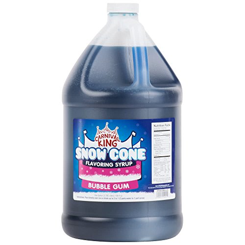 TableTop King 1 Gallon Bubble Gum Snow Cone Syrup - - Case Syrup