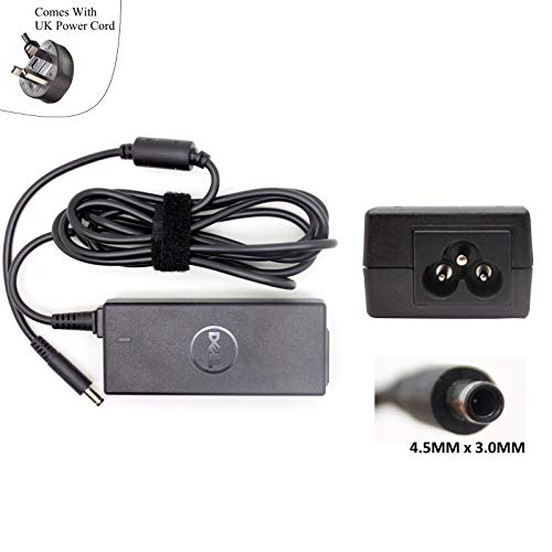 Dell New Genuine 19.5V 2.31A 45W Charger Replacement Inspiron 13 5378 2-in-1 Laptop Power Adapter With UK Power Cord - Sold By Wikiparts