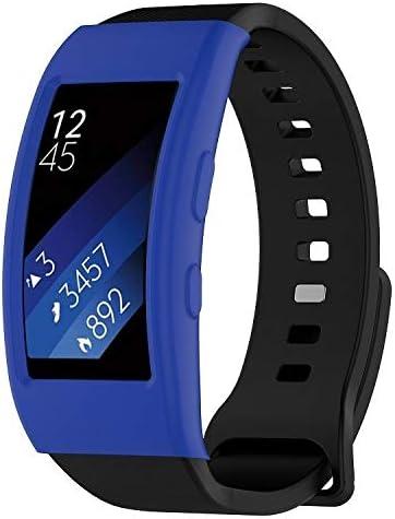 JANSHAREJ ギャラクシーギアFit2 / Fit2 Pro R360腕時計保護ケース (色 : Dark Blue)