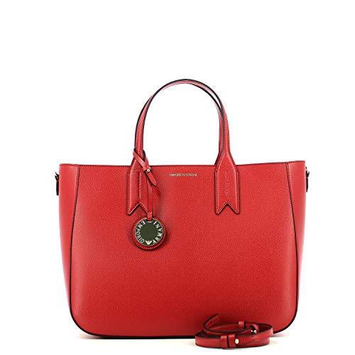 estate Primavera Y3d082 Armani nero Donna Rosso Bag yh15a Shopping Emporio Y0qAfBw
