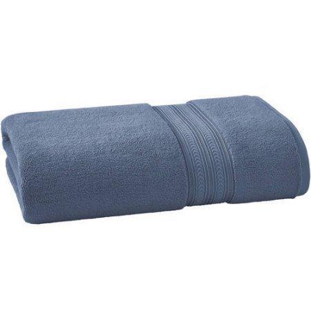 BHG THICK AND PLUSH SOLID BATH SHEET | SUPER SOFT COTTON (Bath Sheet, BLUE)