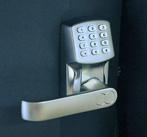 Electronic Keyless Door Lock Set - Satin Nickel (For Left-Hinged Doors Only) by Gino Development (Image #1)