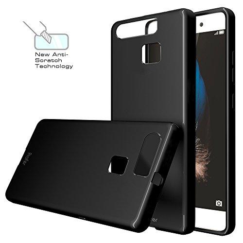 Huawei P9 Hülle, Profer TPU Schutzhülle Tasche Case Cover Kratzfest Weich Flexibel Silikon Bumper für Huawei P9 (schwarz)