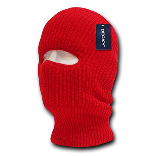 Beanie 1 Hole Face Tactical Ski Mask - Red (Acrylic Ski Mask)