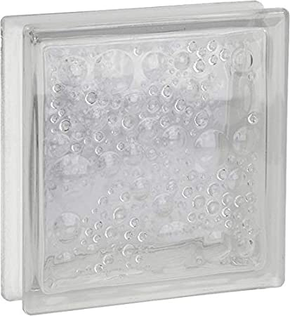 8 pi/èces FUCHS briques de verre savona incolore 19x19x5 cm