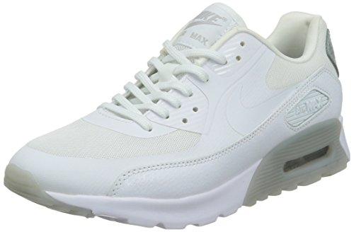 NIKE Air Max 90 Ultra Essential Womens Running Shoes 724981-100 White Wolf Grey-Metallic Silve-White 7.5 M US