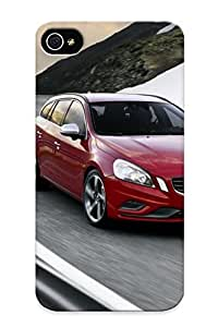 Creatingyourself Case Cover For Iphone 4/4s - Retailer Packaging Red Volvo V60 Rdesign On Road Protective Case