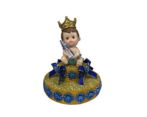 [Baby Shower Royal Blue Little Prince Cake Decoration] (Crown Royal Girl Costume)