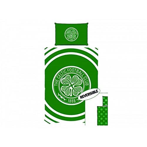 Celtic FC Pulse Single Duvet & Pillowcase Set (One Size) (Green/White)
