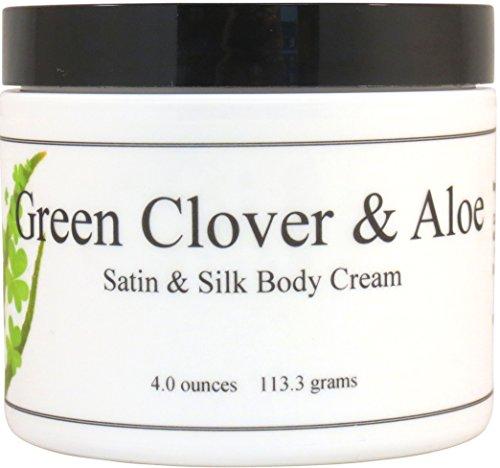 Green Clover Aloe (Green Clover And Aloe Satin and Silk Cream, Body Cream, Body Lotion, 4 oz)