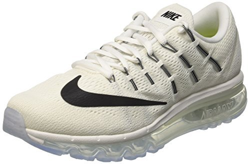 Nike Women's Air Max 2016 Summit White/White/Black Mesh Running Shoes 8 M US