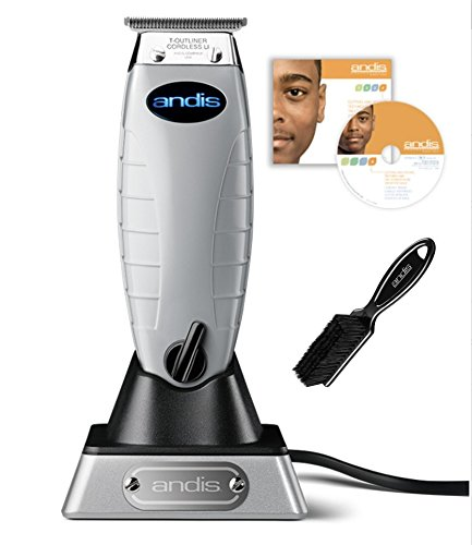 Andis Cordless T-Outliner Lithium-Ion Trimmer with Bonus Andis Hair Cutting DVD & Andis Blade Brush