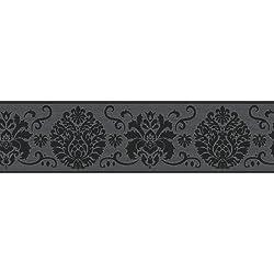 Fine Decor FDB07502S Black Campbell Peel and Stick Border